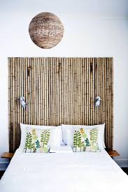 bamboo bedroom headboard