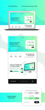Free Web Application Design Templates Free Psd Money Transfer Website Template On Behance