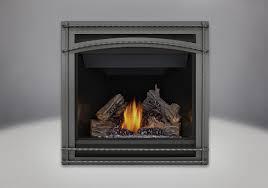 phazer log set wrought iron front mirro flame porcelain reflective radiant panels