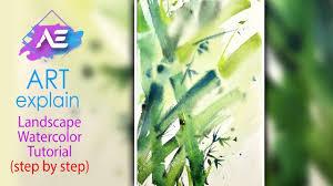watercolor bamboo tutorial how to paint watercolor bamboo art explain