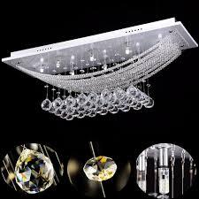 Lightsjoy Kronleuchter Kristall Modern Led Deckenlampe