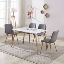 white rectangular dining table. Image Is Loading Rectangular-White-Dining-Table-4-6-Chairs-Set- White Rectangular Dining Table