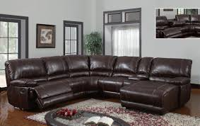 Furniture Lovely Sectional Recliner Couches 6 5brown Leather