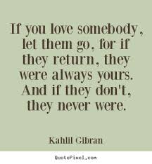 Quotes About Letting Someone Go Amazing Quotes About Love If You Love Somebody Let Them Go For If They