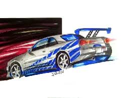 nissan skyline fast and furious drawing. click here to view a full size image of nissan skyline gtr by adrian dewey fast and furious drawing g
