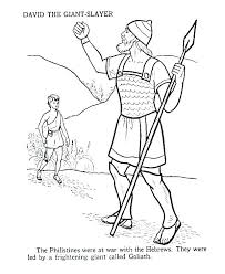 David And Goliath Coloring Pages And Coloring Page Coloring Pages