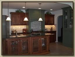 cherry kitchen cabinets photo gallery. This Custom Kitchen Has A Combination Of Birch Cabinets With English Cherry Stain, Along Green Solid Painted Cabinets. The Countertops Are Granite. Photo Gallery S