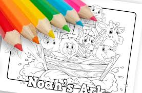The simple shape and bright orange color make them an excellent subject for kids to color. Noahs Ark Printable Coloring Sheet Ministryark