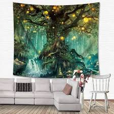 hmwr magical love tree of life tapestry