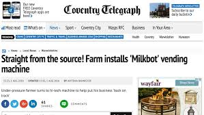 Milkbot Vending Machine Mesmerizing Agriculture In The News August 48 48016 NEWS Farmers Guardian