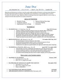 sas resume sample statistician resume example statistics experimental design and