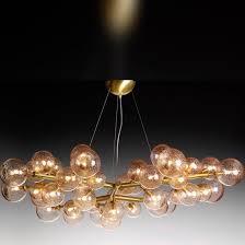 minimalist design chandelier blown glass murano glass led