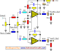 4 channel portable audio mixer circuit diagram main mixer amplifier module schematic circuit diagram