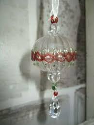 Details Zu Glaskugel Weihnachtskugel Mit Kristall Tropfen Vintage Shabby Fensterdeko Deko