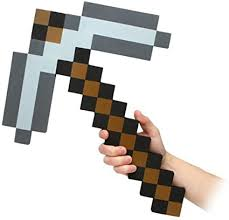 Think Geek Minecraft Pick Axe Foam Weapon Action ... - Amazon.com
