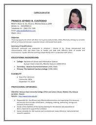 ... Exquisite How To Do A Simple Resume For Job Free Example And ...