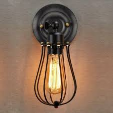 vintage wire cage wall sconce