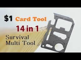$1 Credit <b>Card</b> Tool 11 in 1 Survival <b>Card Multi Tool</b> - YouTube