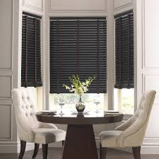 dark wood blinds. Delighful Blinds Dark Wood Blinds With Cloth Tapes Echo The Table And Chair Legs To  Complete  And Wood Blinds