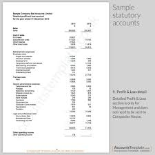 Examples Of Profit And Loss A Guide To The Statutory Accounts Format Accounts Template 20