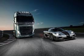 2018 volvo big truck. simple big volvo trucks  vs koenigsegg a race between fh and  koenigsegg one1 youtube on 2018 volvo big truck c