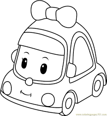 Mini Coloring Page Free Robocar Poli Pages Stunning Zfcampus Org