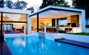 View in gallery contemporary house design with pool
