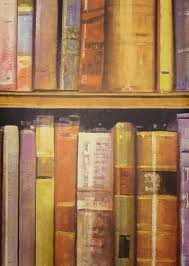 library wallpaper wallpaper with painterly old books on shelf
