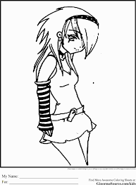 Emo Anime Girl Coloring Pages Emo Anime Coloring Pages To Print