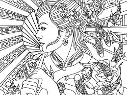 Best Of Asian Beauty Adult Coloring Page Free Coloring Book