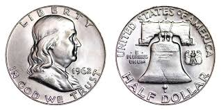 1962 D Franklin Half Dollar Liberty Bell Coin Value Prices