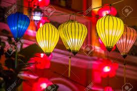 Light Up Paper Lanterns Hoi An Vietnam Oct 04 Paper Lanterns Lighted Up On The