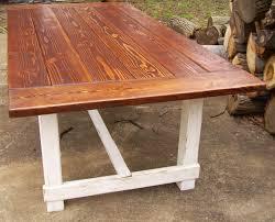 custom reclaimed wood trestle style farmhouse table with farmhouse table base build