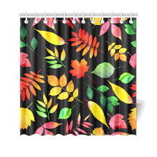 red green yellow autumn leaves fl shower curtain 69 x70 id d1863572