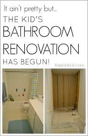 diy bathroom renovation step one gutting the bathroom