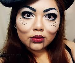 ventriloquist dummy inspired makeup