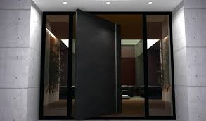 adorable modern metal front doors and entry door steel frame commercial exterior with glass slab a
