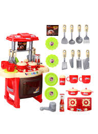 Toy Kitchen With Lights And Sound Shop Generic Electronic Kitchen Cooking Lights And Sound Set Online In Dubai Abu Dhabi And All Uae