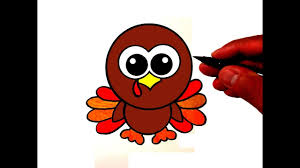 cute thanksgiving turkey drawing. How To Draw Cute Turkey On Thanksgiving Drawing