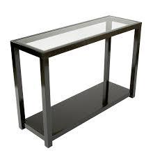 america console table glass gloss black