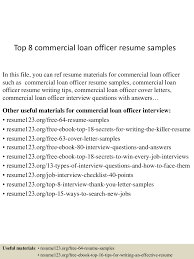 Impressive Loan Officer Resume Examples For Your Sample Objective