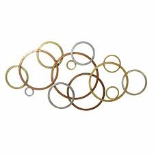 metal circle wall decor home decor interlocking color metal circles wall decor half circle metal wall