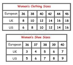 Us To Eu Size Chart Clothing Clothing Sizes Stock Illustration Illustration Of Measure