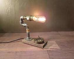 steampunk lighting. Edison Table Lamp / Rustic Decor With Compass And Dimmer Steampunk Lamp Steampunk Lighting P
