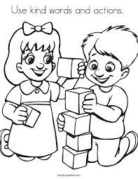 Small Picture Use kind words and actions Coloring Page Twisty Noodle
