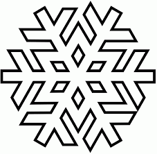 Small Picture snowflake outline with clipart simple snowflakes scene outline