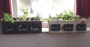 herb box garden box planter box rustic