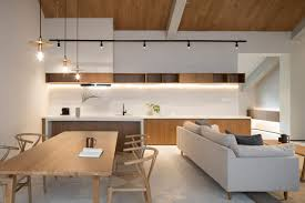 kitchen wooden furniture. Historic Modern Wood Furniture. Minimal Asian-influenced Contemporary Living, Dining And Kitchen Space Wooden Furniture