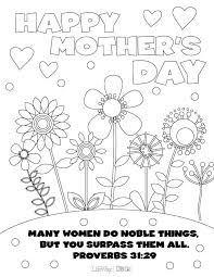 Mothers Day Coloring Pages Letter Writing Ideas Mothers Day
