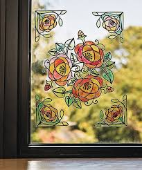 diy stained glass window cling set of 24